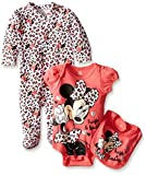 Disney Baby Minnie Mouse 3 Piece Layette Set, Pink, 6-9 Months Size: 6-9 Months Color: Pink, Model: 56L6120MIY, Newborn & Baby Supply