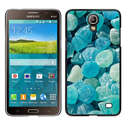 iBinBang / Slim Design Hard Sanp Case Cover - Crystal Meth Rocks Candy Blue Beach - Samsung Galaxy Mega 2