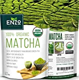 Green Tea Powder - MATCHA - ORGANIC - HIGH FIBER - Tea - Long-lasting Energy - Boost Skin Health Anti-Aging - Coffee Substitute - 137x Natural ANTIOXIDANTS - Promote Brain Cells - Boost Metabolism - Natural Detox - Unmatched Taste - 100% Organic Certified (4oz)