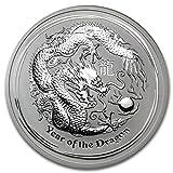 干支龍銀貨 5オンス クリアケース入り 2012年製 オーストラリアパース造幣局発行 155gの純銀 シルバー コイン 実店舗でお買取を約束する保証書同封