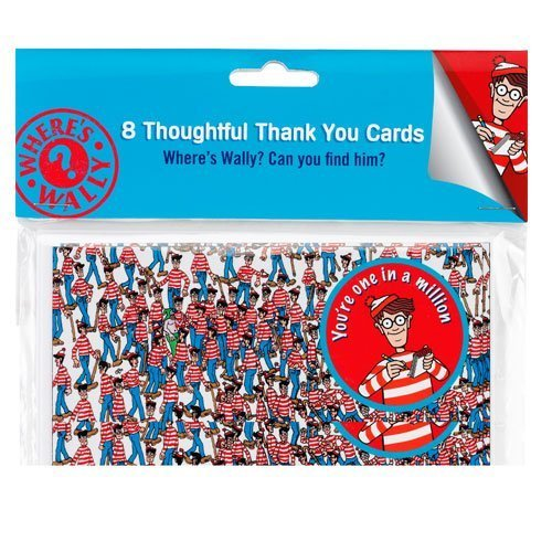 wheres-wally-post-card-style-thank-you-cards-8-cards-and-envelopes