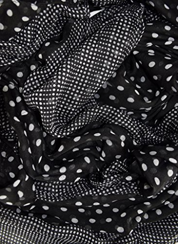 Peach-Couture-Chic-Boho-Soft-Lightweight-Polka-Dot-Bordered-Sheer-Scarf-Shawl-Black