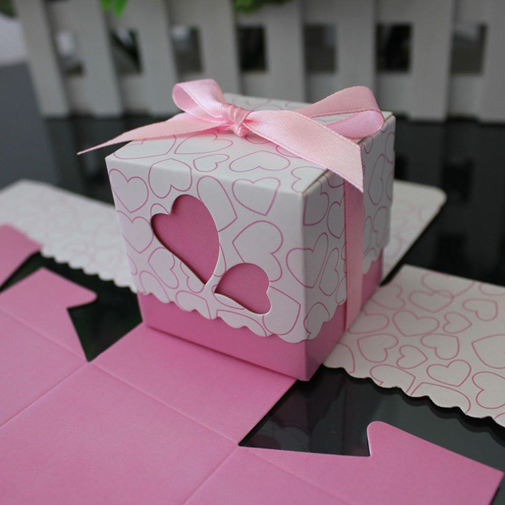 heart wedding favor box