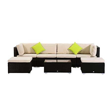 Outsunny® Poly-Rattan Gartenmöbel 21tlg. Rattan Garten-Set Sitzgruppe Loungeset Loungemöbel Gartengarnitur Sofa inkl. Sitzkissen