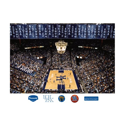 NCAA Kentucky Wildcats Rupp Arena Mural Wall Graphic Fathead Wall Stickers & Murals autotags B005HQE6PM