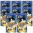 FELIX Party Mix Original : Poulet, Foie, Dinde - 60 g - Friandises pour chat - Lot de 8