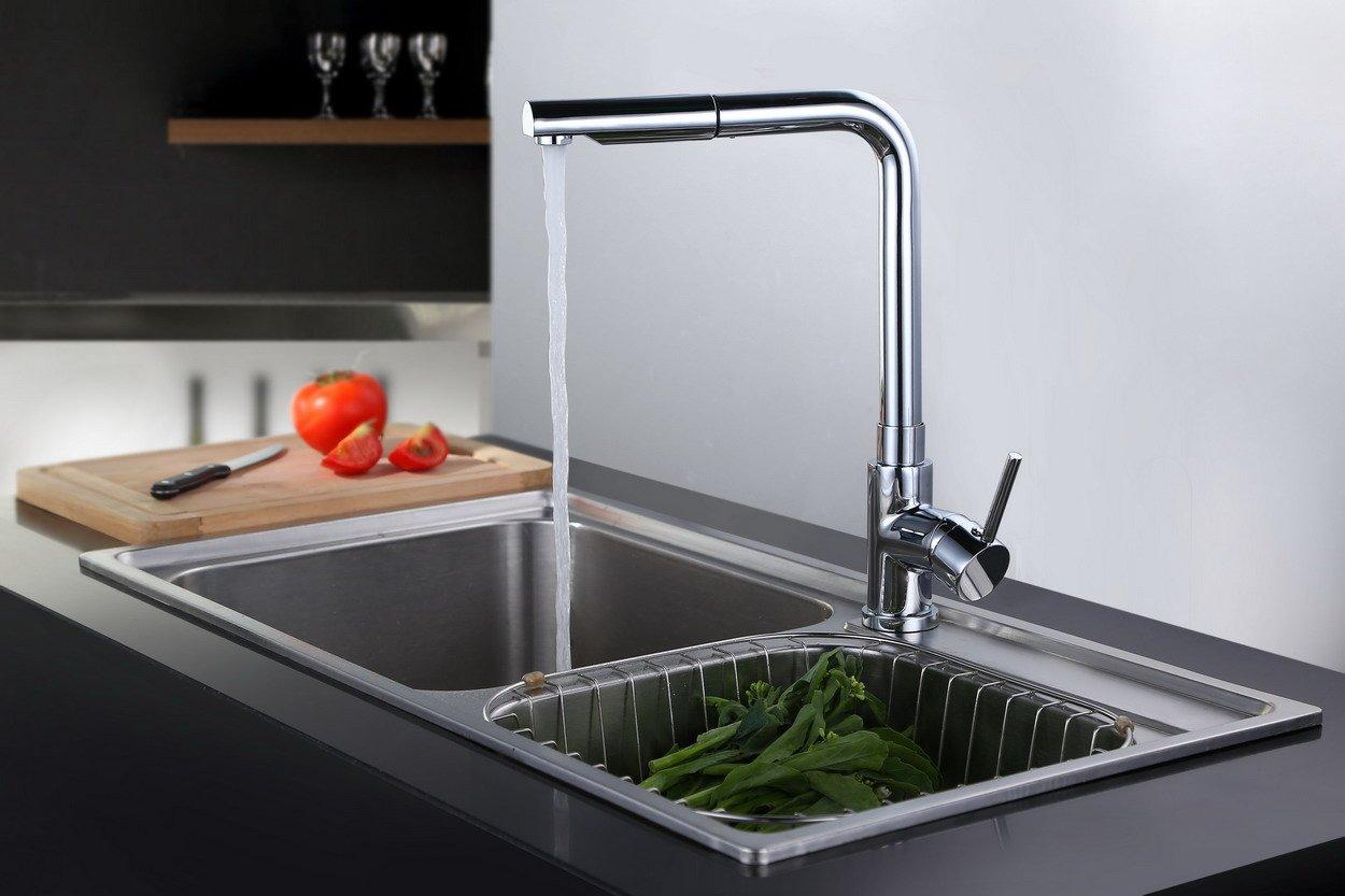Dailyart® Küche Armatur Mit herausziehbarem Küchenarmatur Einzigen Handgriff. Kupfer und Edelstahl.  BaumarktKundenbewertung: