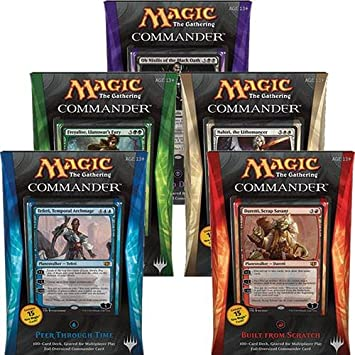 Magic the Gathering (MTG) Commander 2014 - Complete Set of All 5 Decks