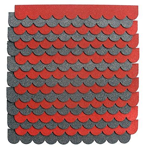 1 2m 3 sets mini dachschindeln gr n dachpappe nistkasten. Black Bedroom Furniture Sets. Home Design Ideas