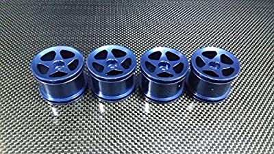 Team Associated RC18T Upgrade Parts Aluminum Front + Reat Standard Sinkage Surface Rims (Star) - 2Prs Dark Blue