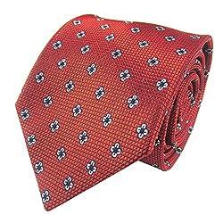 Rossini Men's Tie (UFAM75_Orange_Free Size)