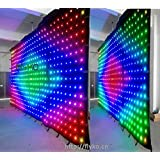 3M6M P18CM RGB LED Lamp Cloth with SD Controller DMX Controller