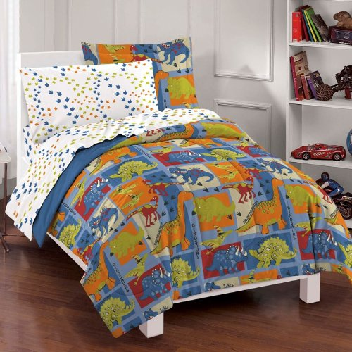 Sale!! Dinosaur Blocks Boys Ultra Soft Microfiber Comforter Set