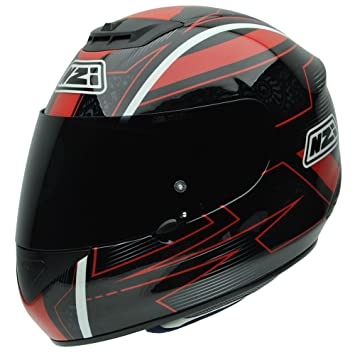 NZI 010266G731 Spyder V Graphics Red Baron, Casque de Moto, Taille L Multicolore