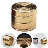 Runfish Vortecon Kinetic Desk Toy Adult EDC Spinning Toy Anxiety Relief Stress Reliever- Optical Illusion and Hypnotic Optical Illusion Continuously Flowing Helix Shaped, BRASS (Color: Brass)