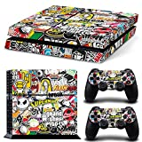 FriendlyTomato PS4 Console and DualShock 4 Controller Skin Set - Collage Brand Design Hoonigan - PlayStation 4 Vinyl