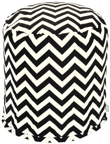 Majestic Home Goods Chevron Pouf, Small, Black