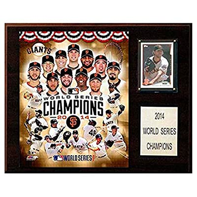 C and I Collectables MLB 15W x 12H in. San Francisco Giants 2014 World Series Champions Plaque