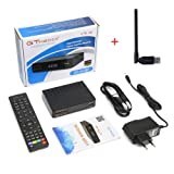 2018 Newest Upgraded Free Sat Full HD 1080P V7S FTA Receptor Satellite Receiver DVB-S/S2 Decoder Support PowerVu,DRE & Biss key and USB Wifi to Network Sharing( an USB Wifi Dongle for Gift)