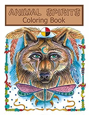 Animal Spirit Dreamcatchers Coloring Fun for all Ages.