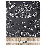 5x7ft Vinyl Digital Back to School Chalkboard Blackboard Photography Studio Backdrop Background