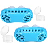 Anti Snoring Devices, 2 in 1 Snore Stopper & Air Purifier Filter with Travel Case Nose Vent Solution for Comfortable Sleep (Color: Blue+blue)