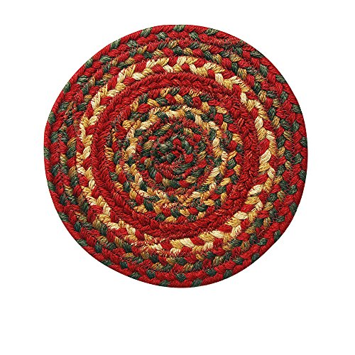 "Homespice Decor Cider Barn Jute Braided Trivet Rug 8"""" Round , Rug , Home Garden Living"