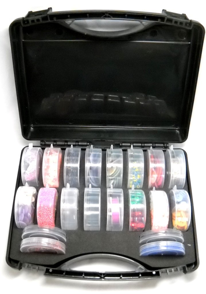 Beads the o 39 jays and cases on pinterest for Darice jewelry designer bead storage system with 24 containers