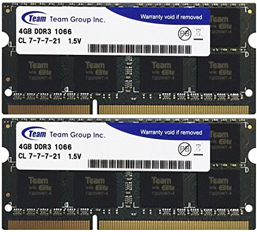 Team notes for PC memory SO-DIMM-DDR3 permanent guarantees ECO package (1066 Mhz PC3-8500 1.5 V 4GBx2)