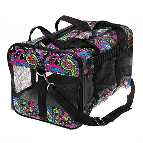 Sherpa Original Deluxe Floral Pet Carrier, Large, Multi Colored