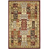 "Safavieh Lyndhurst Collection LNH318A Multi and Ivory Area Rug, 3 feet 3 inches by 5 feet 3 inches (3'3"" x 5'3"")"