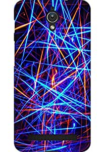 AMEZ designer printed 3d premium high quality back case cover for Asus Zenfone C (abstract neon lines)