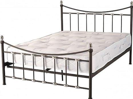 Dunbar 121,92 cm 15,24 cama pie alto de acoplamiento en color negro/cromado