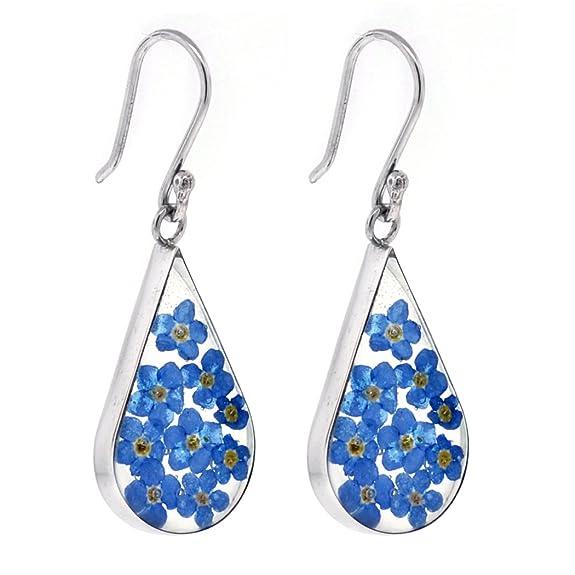 Flower Teardrop Earrings