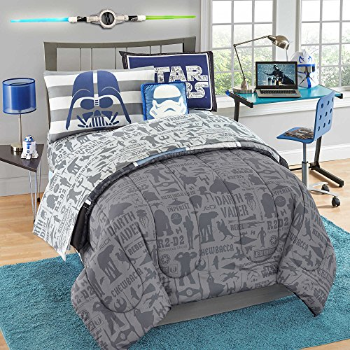 Best Price! Star Wars Reversible Comforter Set, 7 Pc. Full
