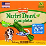 Nylabone Nutri Dent Medium Chicken Flavored Bone Dog Treats, 32 Count