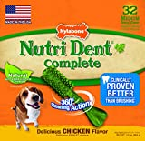 Nylabone Nutri Dent Small Chicken Flavored Bone Dog Treats, 32 Count