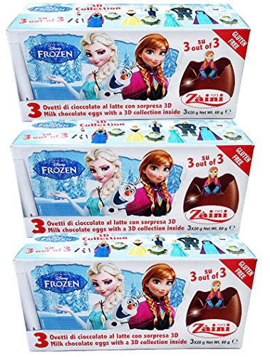 Disney Frozen Zani Xmas Chocolate & 3D Collection Surprise 9 Eggs Random Pack