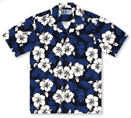 RJC+Hibiscus+2+Tone+Hawaiian+Aloha+Shirt%2C+Large