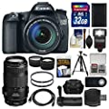 Canon EOS 70D Digital SLR Camera & EF-S 18-135mm IS STM Lens with 70-300mm IS Lens + 32GB Card + Case + Flash + Battery + Grip + Tripod Kit