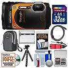 Olympus Tough TG-860 iHS Wi-Fi GPS Shock & Waterproof Digital Camera (Orange) with 32GB Card + Case + Battery + Flex Tripod + Float Strap + Kit