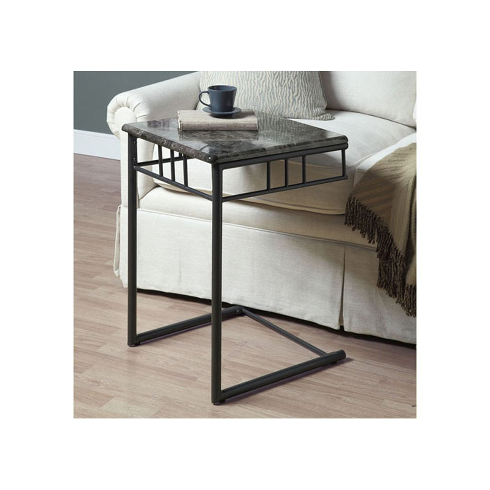 tv snack table side tray metal dinner slide under sofa laptop couch marble stand ebay. Black Bedroom Furniture Sets. Home Design Ideas