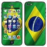 """atFoliX Designfolie """"Brasilien Flagge"""" f�r Apple iPhone 5 - ohne Displayschutzfolievon """"Designfolien@FoliX"""""""