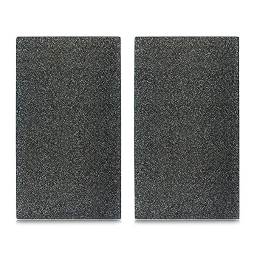 """26255 Herdabdeck-/Schneideplatten """"Granit"""", 2-er Set, Glas, anthrazit"""