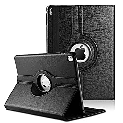 Wellmart Premium 360 Degree Rotating PU Leather Flip Case For Apple iPad Pro 9.7 Inch (Black)