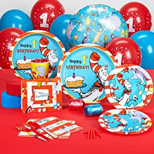 Dr seuss 1st birthday standard party pack for for 1st birthday party decoration packs