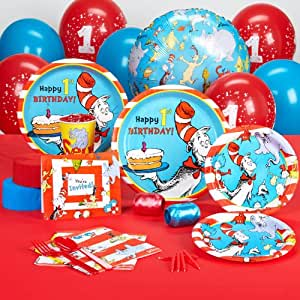 Dr seuss 1st birthday standard party pack for for 1st birthday decoration packs