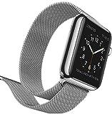 Apple Watch 38mm ステンレススチールケースとミラネーゼループ MJ322J/A