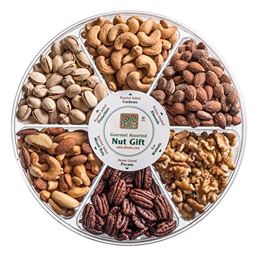 Oh! Nuts Freshly Roasted Holiday Nuts Gift Basket, Nut Gift Tray 6-section  Medium Gift Tray Oh! Nuts®