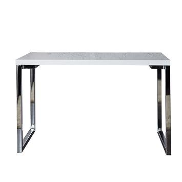 Design Laptoptisch WHITE DESK 160x60 cm hochglanz weiß Schreibtisch Buro Konsole Konsolentisch Burotisch